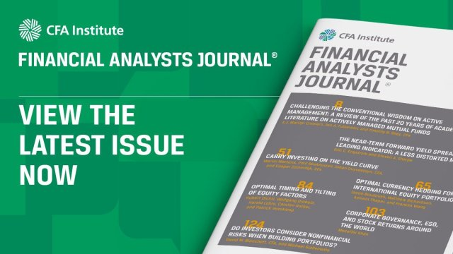 Financial Analysts Journal: View the Latest Issue