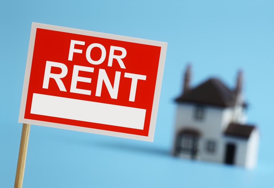 Real estate agent for rent sign